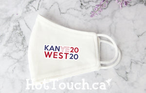 Kanye West 2020 face mask, Cotton mask face, Handmade Cotton Mask, quick production time and ships from Alberta Canada FY-ME-017
