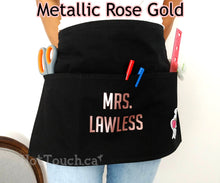 Load image into Gallery viewer, Personalized Teacher Apron, Back To School, Christmas Gift, Aprons, Classroom Helper, Custom Teacher Gift, Teacher tool OC-TC-27