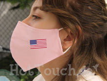 Load image into Gallery viewer, USA flag Face Mask, Reusable Handmade Fitted Mask Style, quick production time