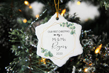 Load image into Gallery viewer, Our First Christmas as Mr and Mrs Ornament,Botanic Ceramic,New couple,2020 Christmas Ornaments XS-FRS-2