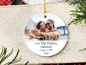 Our First Christmas Engaged Personalized Ornaments,Keepsake,Miss to Mrs,Wedding gift,Christmas decor,2020 Christmas Ornaments XS-FRS-10