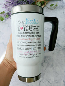 Funny Bff mug,Bestie travel mug,Gift idea for Bestie,Best Friend gift,Soul sister,friend forever,best friend mug,bff coffee mug,mugs FR-BF-6