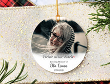 Load image into Gallery viewer, Custom Memorial Ornament, Remembrance Ornament, Memorial Gift, Loss of loved one,Memorial gifts, sympathy, memorial ornament XS-MEMO-1