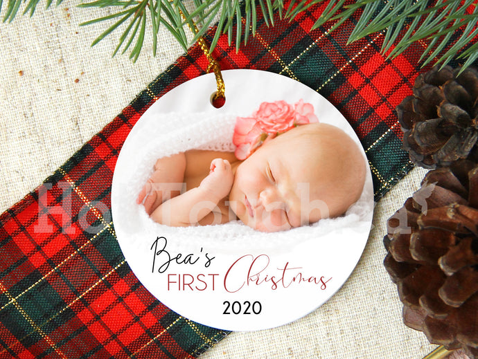 Baby First Christmas ornaments,Personalized gifts baby,Photo Ornament,Personalized,Porcelain ornament,2020 Christmas Ornaments XS-BB-1
