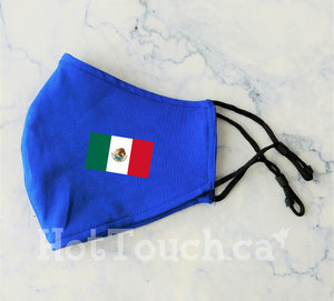 Mexican flag, Fabric face mask, Mexican, cotton face Mask, 100% cotton, quick production time and ships from Alberta Canada