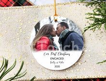 Load image into Gallery viewer, Our First Christmas Engaged Personalized Ornaments,Keepsake,Miss to Mrs,Wedding gift,Christmas decor,2020 Christmas Ornaments XS-FRS-10