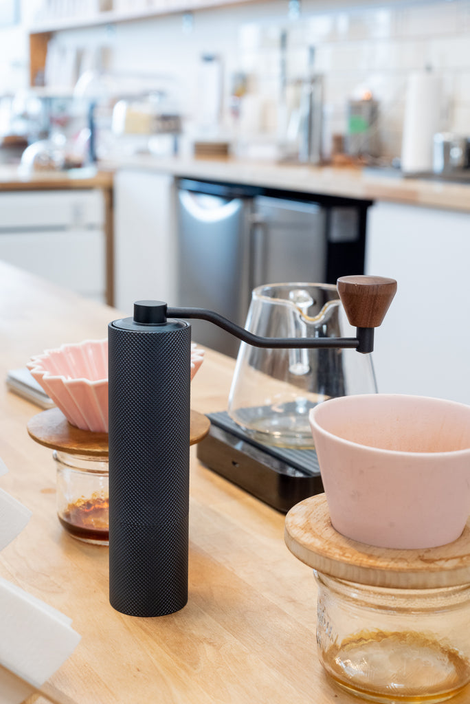 Timemore - Slim Coffee Grinder - Titanium Burr - Black/Blue