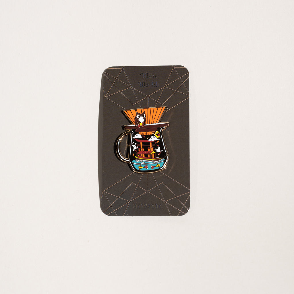 Niche Create - Pour Over Origami Gold Enamel Pins