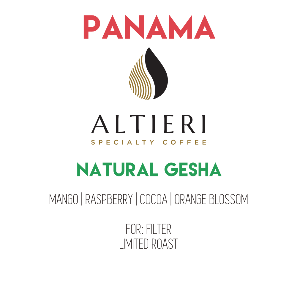 Panama Altieri - Callejón Seco | Natural Gesha 200g - PRE-ORDER FOR NOV 18