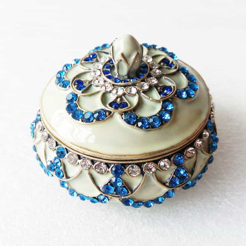 "Ring Holder - RING HOLDER ""Antique Bronze"" Light Sapphire & Sapphire, Ring Holder - Jamagrasha Custom Item"