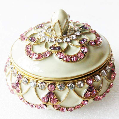 "Trinket Box - LARGE, ""Gold"" & Light Rose Trinket Box- LARGE  Jamagrasha Customized Item"