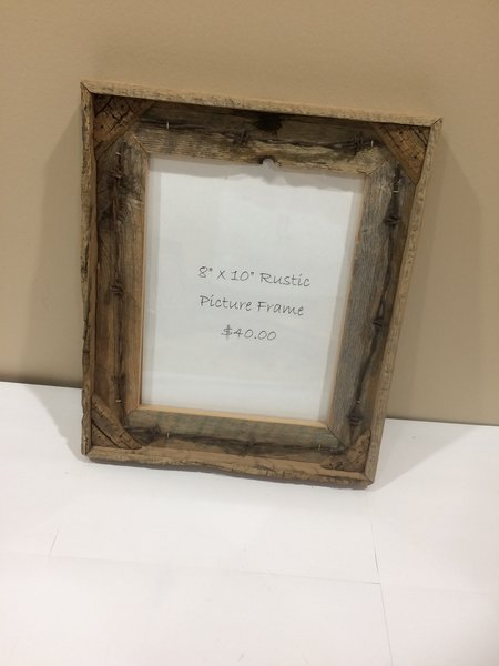 8x10 Shadow Box With Barbwire Picture Frame Timber Creek Rustic