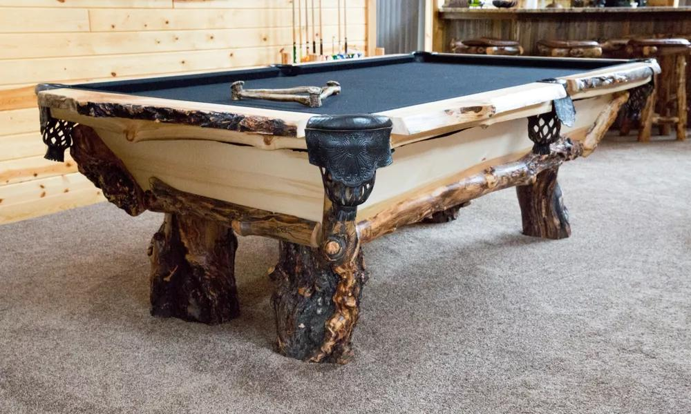 Fine Timber Creek Knarly Pool Table Beutiful Home Inspiration Xortanetmahrainfo