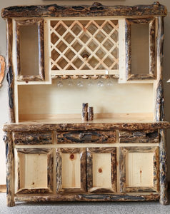 Rustic Furniture - Timber Creek Wine Cabinet - Timber Creek Rustic Furniture