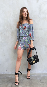 Floral Casual strapless Jumpsuit