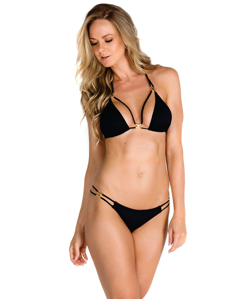 Four Strips Gold Detail Bikini
