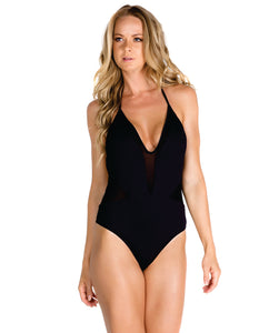 One-Piece V-Neck Swimsuit