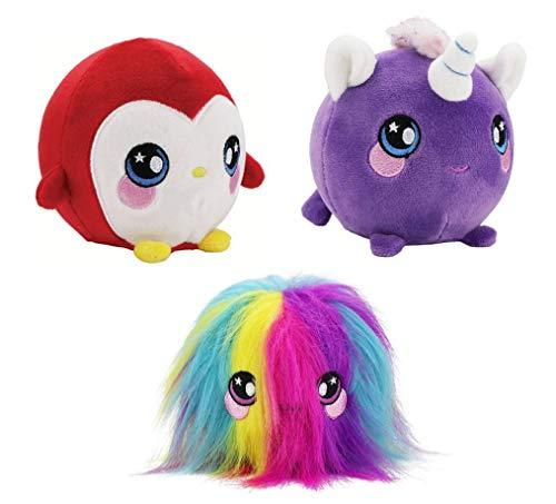 "Squeezamals – Kate Unicorn, Paulina Penguin, Fluffy Fur Ball - 3.5"" Super-Squishy Foamed Stuffed Animal! Squeezable, Cute, Soft, Adorable! Toy (3 Pack)-WishfulMarket"