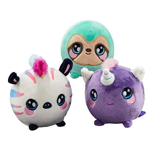 "Squeezamals (Kate Unicorn, Samantha Sloth, Zachry Zebra - 3.5"" Super-Squishy Foamed Stuffed Animal! Squeezable, Cute, Soft, Adorable! Toy (3 Pack)-WishfulMarket"