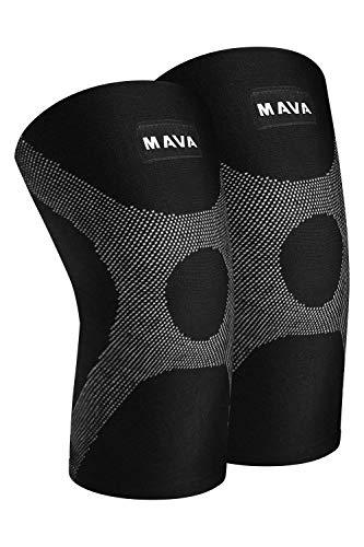 Mava Knee Compression Sleeves Support Pair XS-XXL-WishfulMarket