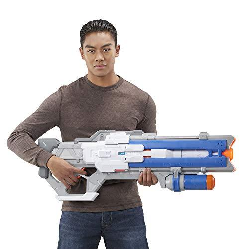 NERF Overwatch Soldier: 76 Rival Blaster - Fully Motorized, Lights, Recoil Action, 30 Overwatch Rival Rounds - for Teens, Adults-WishfulMarket