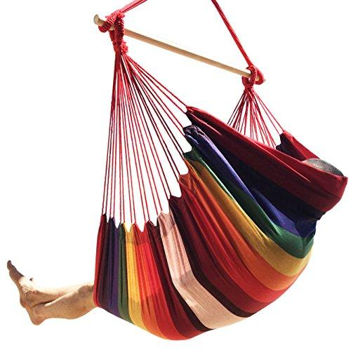 Large Brazilian Hammock Chair: Cotton Weave, Extra Long, Hanging Chair-WishfulMarket