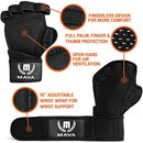 Ventilated Workout Gloves with Wrist Wraps And Silicone Padding-WishfulMarket