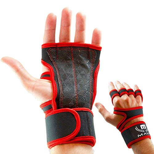 Mava Sports Cross Training Gloves with Wrist Support for Fitness, WOD, Weightlifting, Gym Workout & Powerlifting - Silicone Padding, no Calluses - Men & Women, Strong Grip