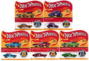 Hot Wheels 2018 50th Anniversary Originals Redlines Series Complete Set of 5 1/64 Diecast Cars, w/Button-WishfulMarket