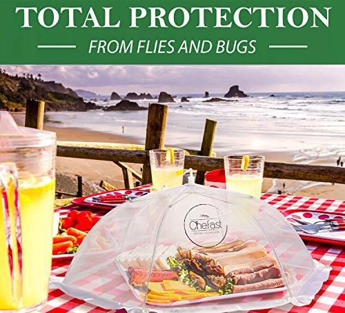 Chefast Food Cover Tents (3 Pack) Set of Pop Up Mesh Covers in 3 Sizes