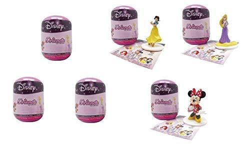 "Disney Mini Friendz Blind Capsule with Favorite Disney Characters and Trading Card (6 Pack) Includes x6 2"" Tall Disney Characters - Princess Cake Toppers"