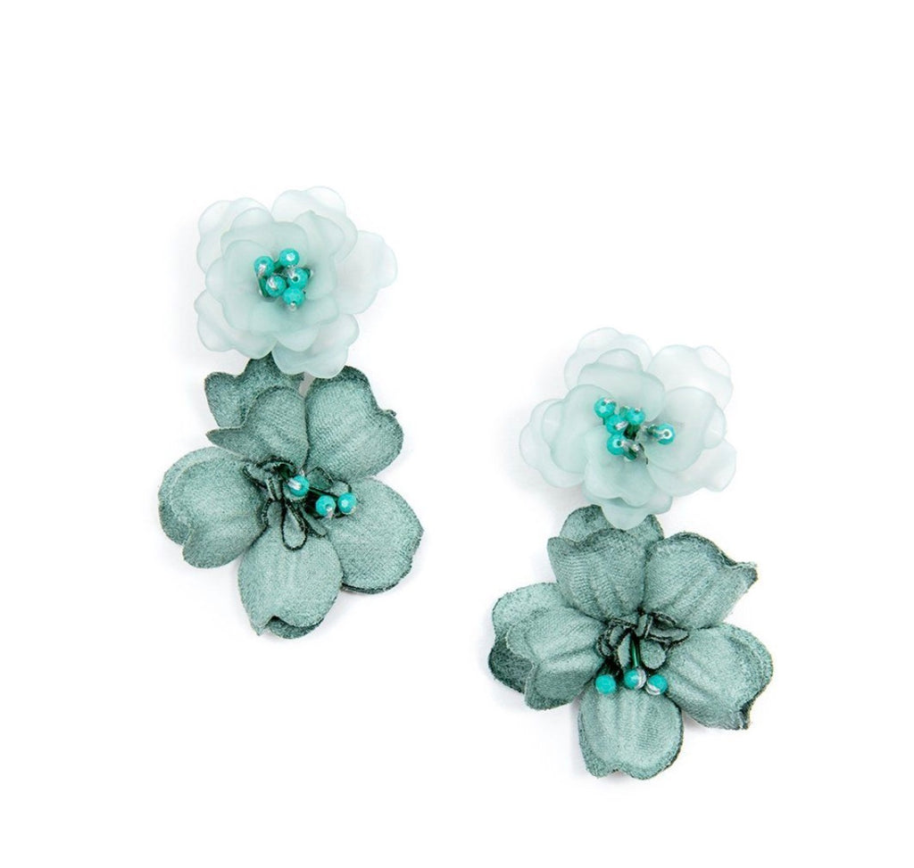 FLORAL DOUBLE DROP MINT