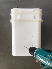 Drill holes in bucket. Create Your Own inground Worm Station. Plot Australia.