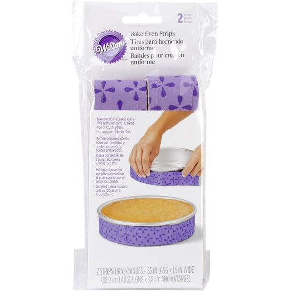 Wilton Bake-Even Cake Strips 2/Pkg - A Plus Craft