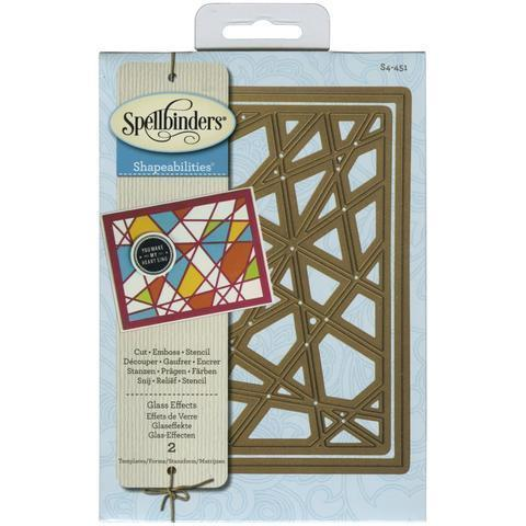Spellbinders Shapeabilities Dies Glass Effects - A Plus Craft