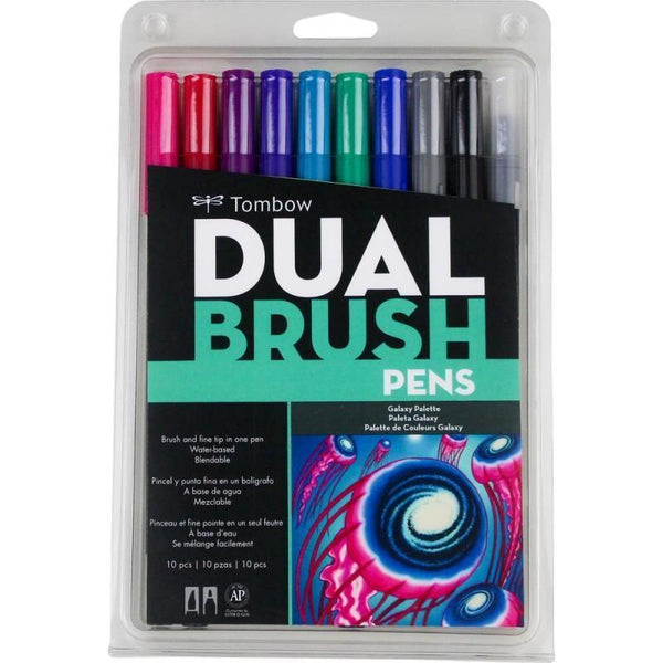Tombow Dual Brush Markers 10/Pkg--Galaxy Palette - A Plus Craft