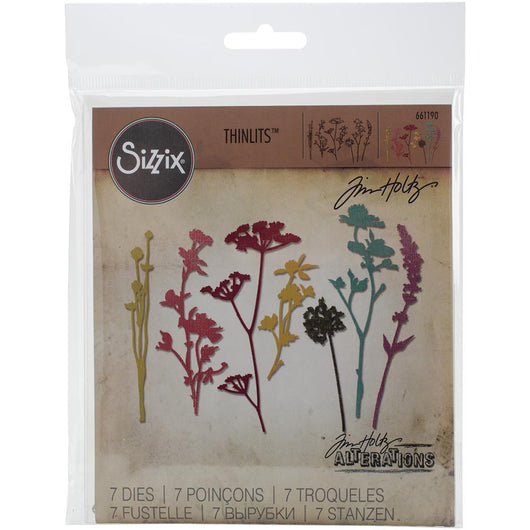 Sizzix Thinlits Dies By Tim Holtz 7/Pkg Wildflowers - A Plus Craft