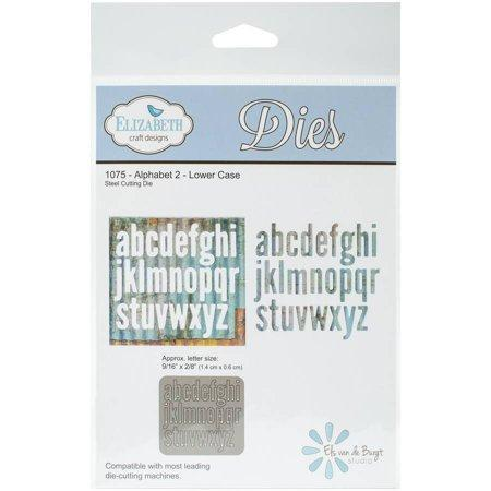 Elizabeth Craft Metal Die, Alphabet 2 Lower Case - A Plus Craft