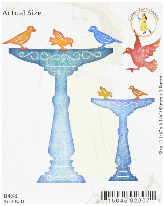 Cheery Lynn Designs Die Bird Bath, 3.25