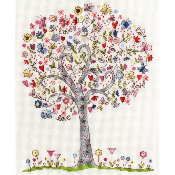 Bothy Threads--Love Tree--Cross Stitch Kit - A Plus Craft