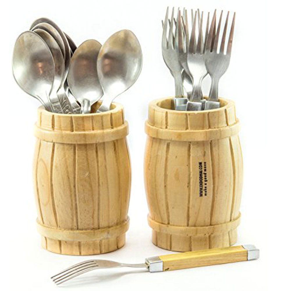 Barrel Cutlery Holder (Set of 2)