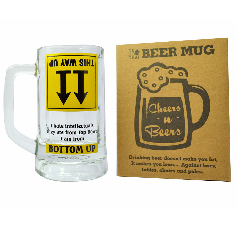Bottoms Up Beer Mug
