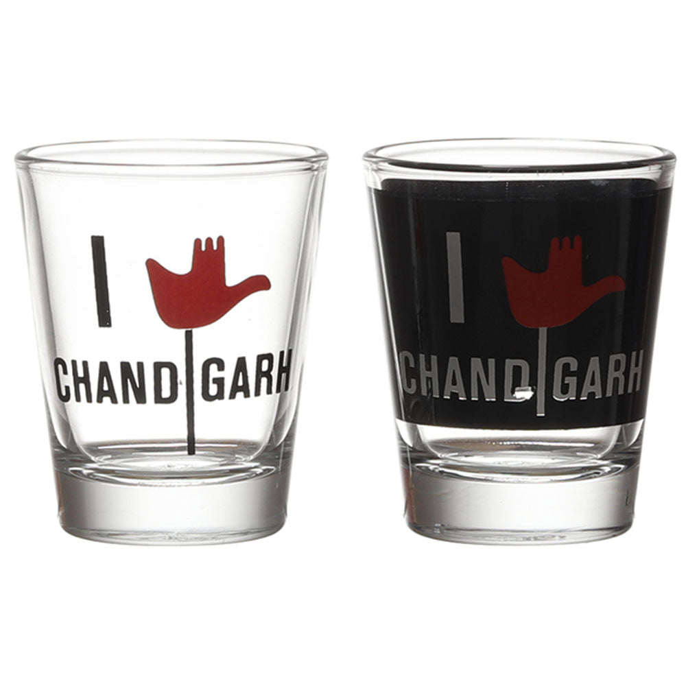 I LOVE CHANDIGARH SHOT GLASS SET OF 2