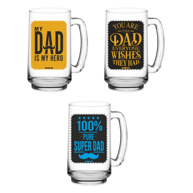 DAD BEER MUG set of 3