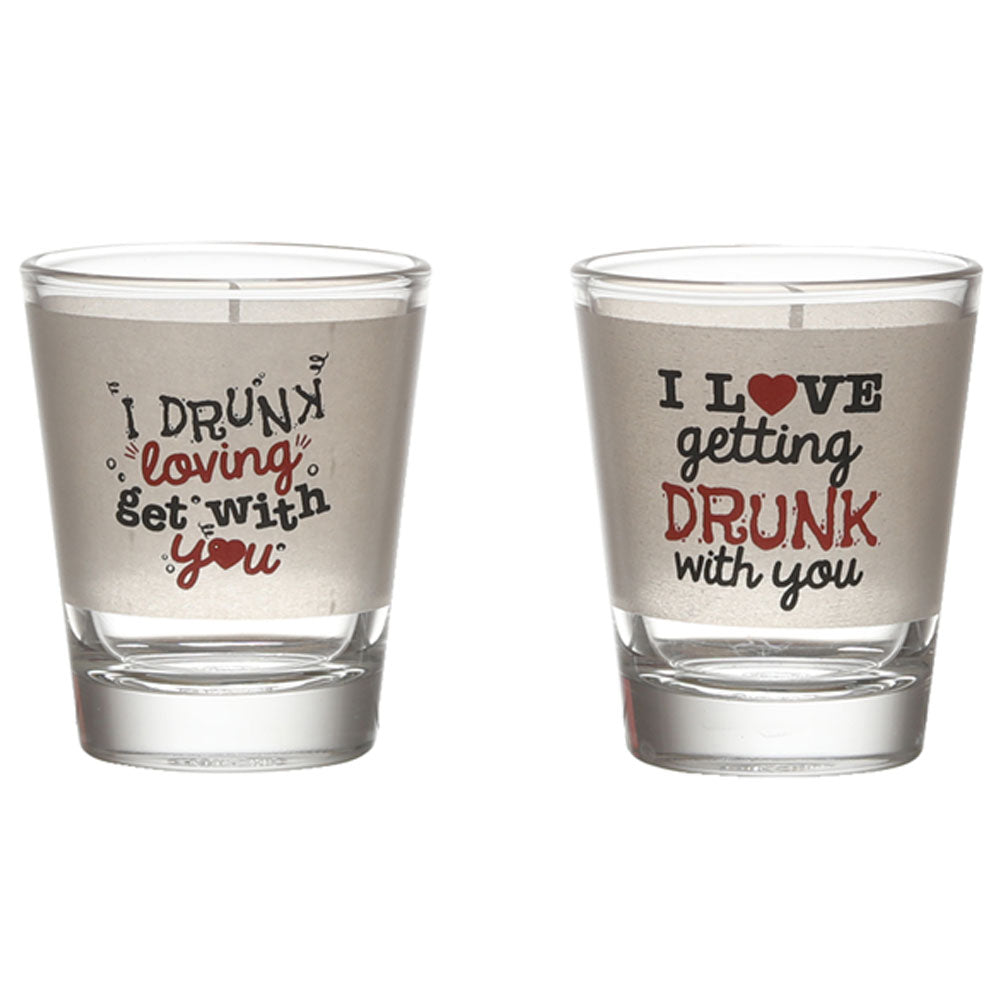 I LOVE GETTING DRUNK SHOT GLASS SET OF 2