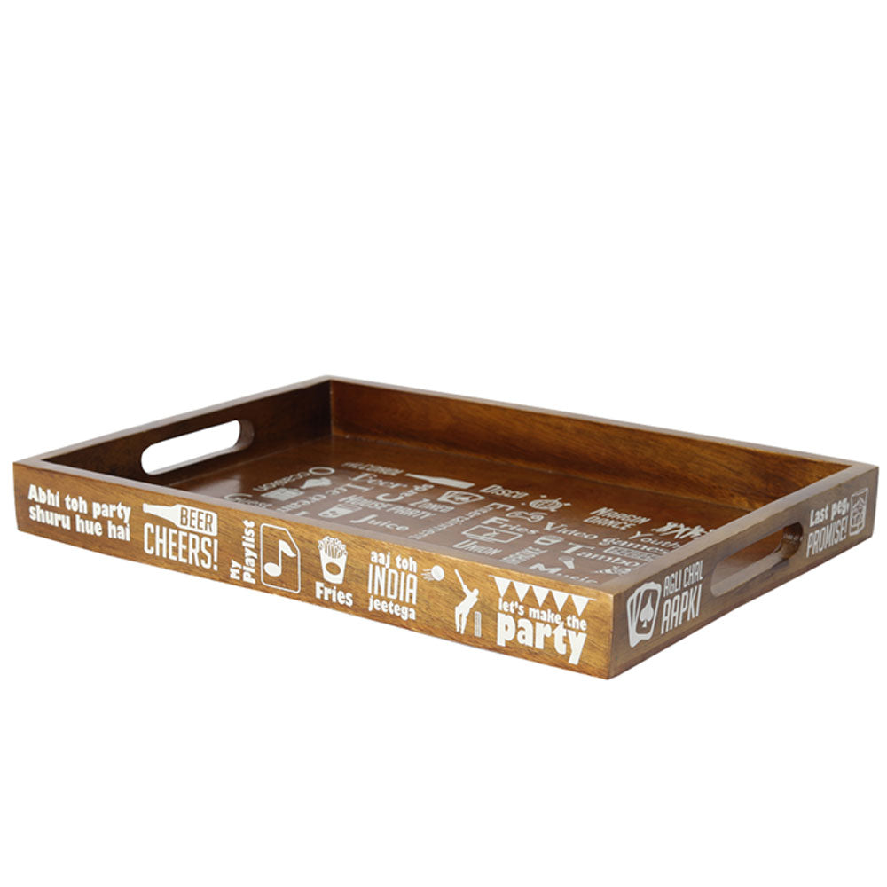 HOUSE PARTY SERVING TRAY