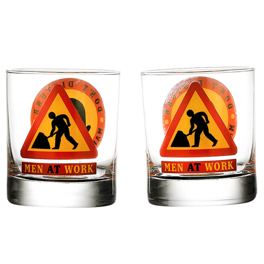 Men at Work Whiskey Glass (set of 2)
