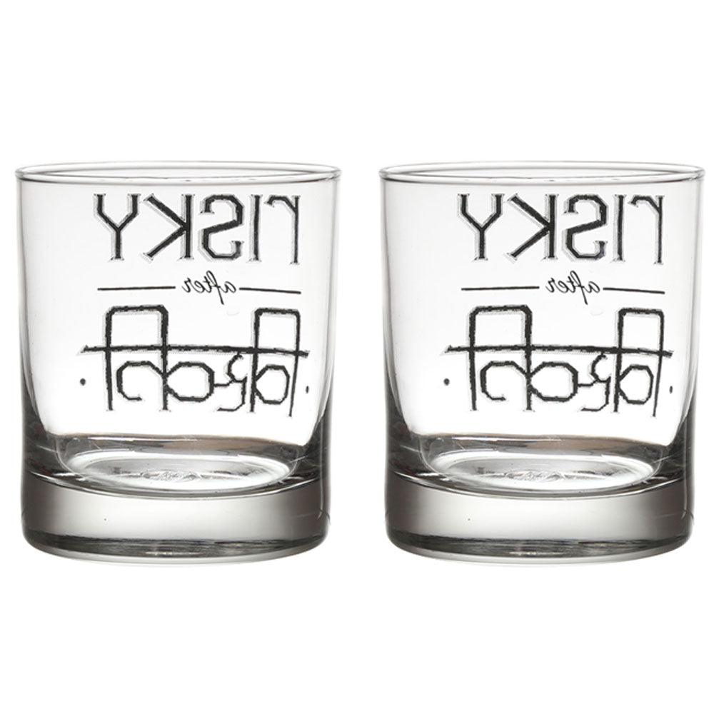 RISKEY AFTER WHISKEY GLASS SET OF 2