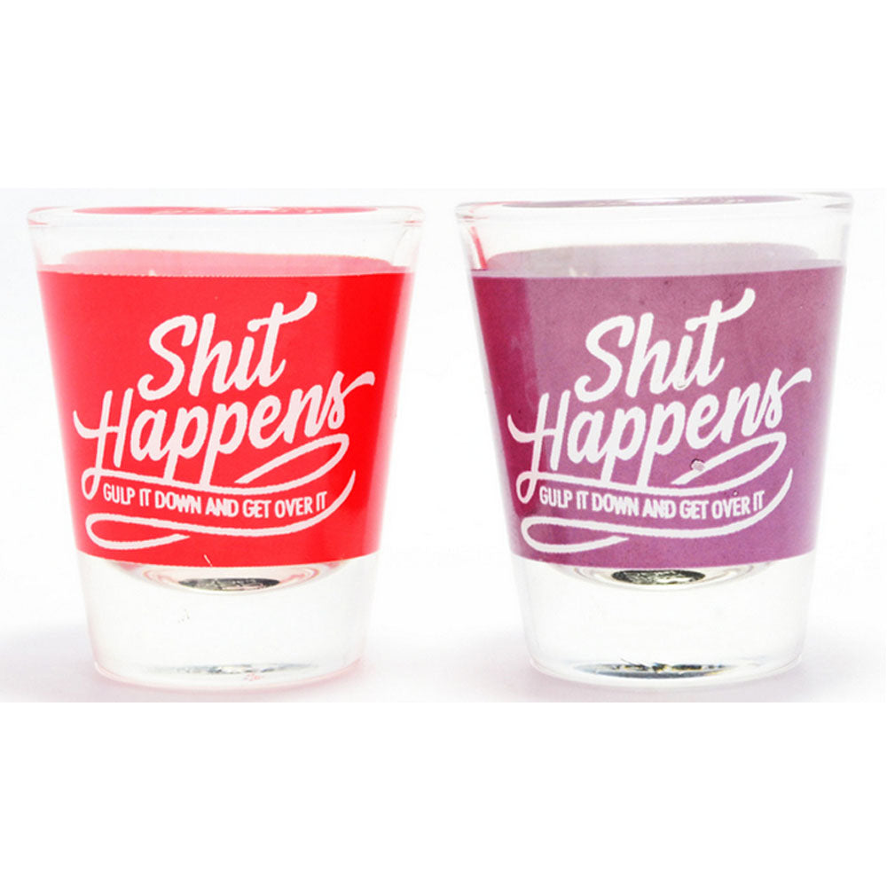 Shit Happens Shot Glass (set of 2)