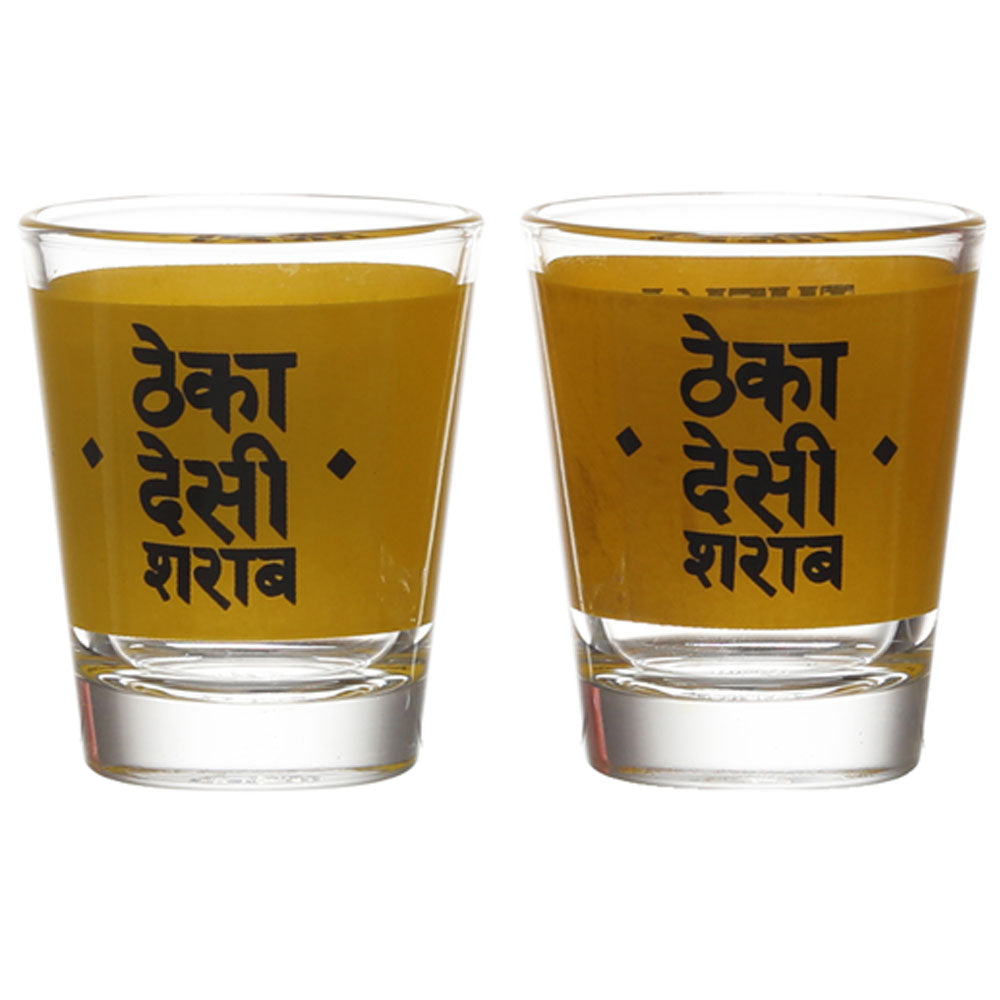 THEKA DESI SHARAB SHOT GLASS SET OF 2